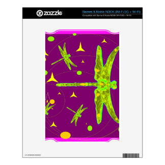 Chartruese Dragonfly Purple Fantasy by Sharles NOOK Decal