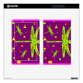 Chartruese Dragonfly Purple Fantasy by Sharles Kindle Fire Skins