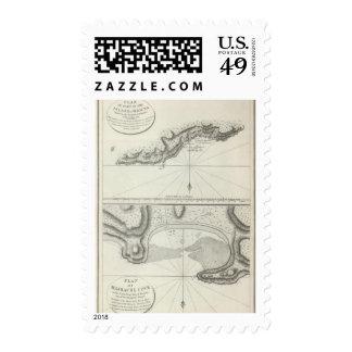 Charts of Parts of Maouna Pago Pago, Samoa Postage Stamps