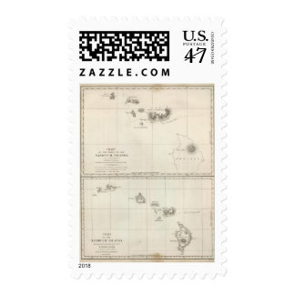 Charts of the Sandwich Islands Postage Stamp