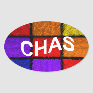 CHAS OVAL STICKER