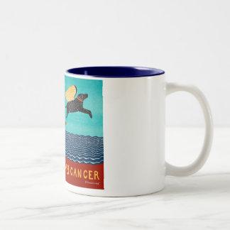 chase away k9 cancer-Mug-Stephen Huneck Two-Tone Coffee Mug