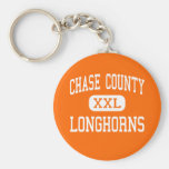 Chase County - Longhorns - High - Imperial Basic Round Button Keychain