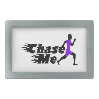 Chase Me Rectangular Belt Buckle