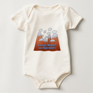 Chase Moose and Squirrel - Dark Baby Bodysuit