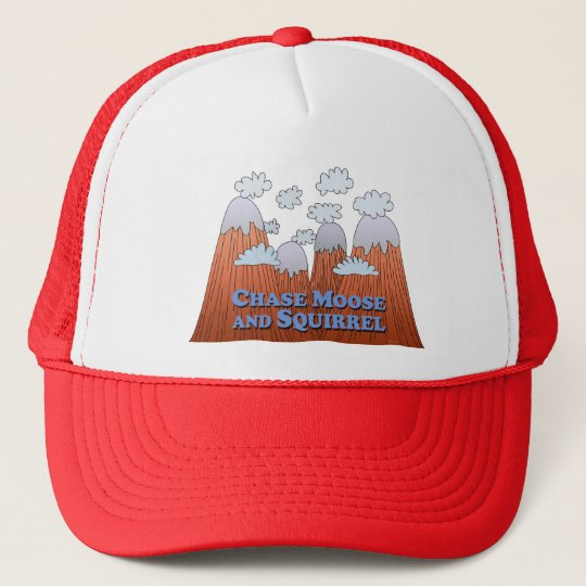 Chase Moose and Squirrel - Dark Trucker Hat