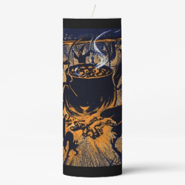 Halloween Themed Chase of the Witches Candle