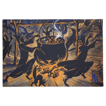 Halloween Themed Chase of the Witches Door Mat