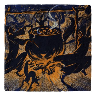 Halloween Themed Chase of the Witches Trivet