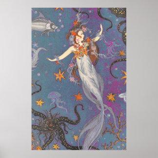Chase Rainbows Swim with Mermaids, Ride Unicorns Poster