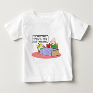 chase scene kid bed dad read book shirt