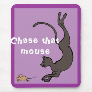 Chase that mouse mouse pad