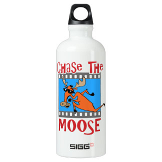 Chase the Moose Aluminum Water Bottle