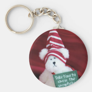 Chase the Snowflakes Keychain