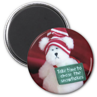 Chase the Snowflakes Magnet