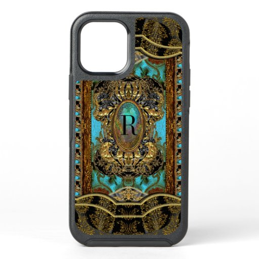 Chasecoure Protective Pretty Girly Monogram OtterBox Symmetry iPhone 12 Case