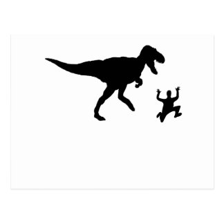 Chased By A Dinosaur Postcard