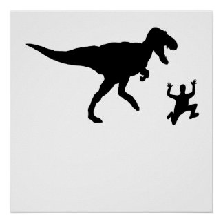 Chased By A Dinosaur Print