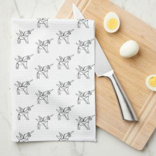 8de153bcdd1 Chasin  Unicorns Geometric Crystal Unicorn Pattern Kitchen Towel