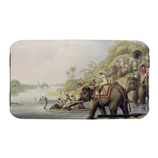 """Chasing a Tiger across a River, from """"Oriental Fie iPhone 3 Case"""