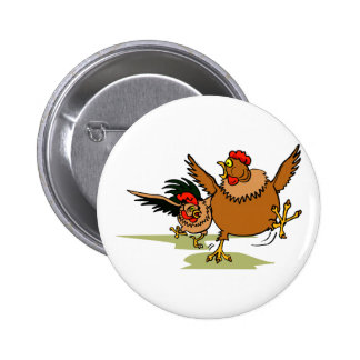 Chasing Chickens 2 Inch Round Button