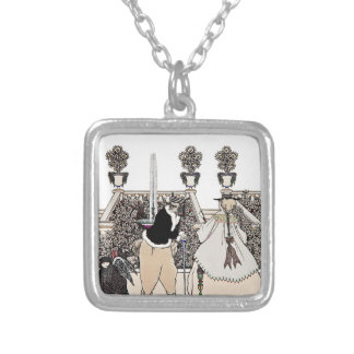 Chasing Cupid From the Garden Silver Plated Necklace