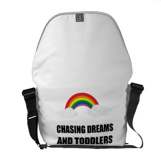 Chasing Dreams And Toddlers Messenger Bag