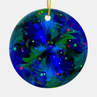 Chasing Fireflies Double-Sided Ceramic Round Christmas Ornament