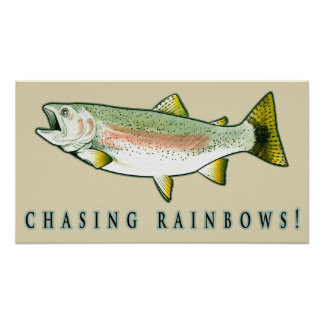 Chasing Rainbow Trout Poster