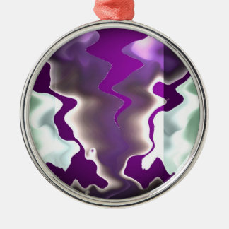 Chasing Storms and Sea Waves Metal Ornament