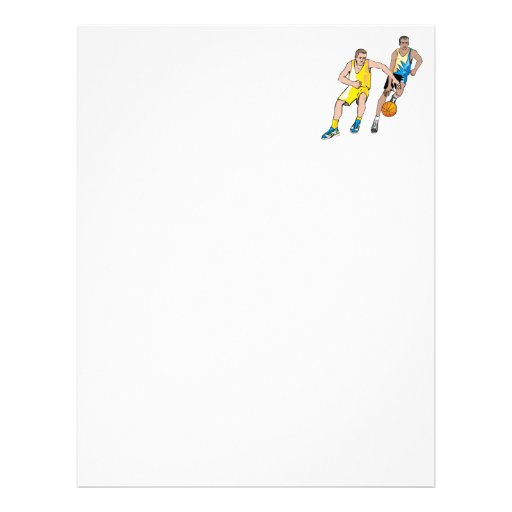 Chasing the basketball letterhead