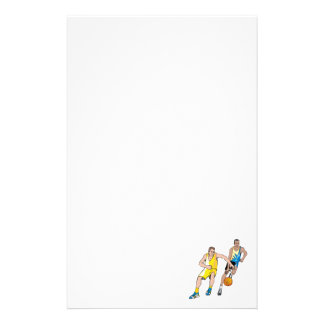 Chasing the basketball stationery