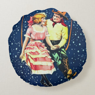 Chasing the Moon Round Pillow