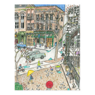 Chasing the Rainbows, Pioneer Square, Seattle Postcard