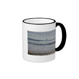 Chasing the Waves Rodanthe Surfer Ringer Mug