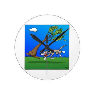 Chasing Tree Round Wallclock