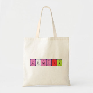 Chasity periodic table name tote bag