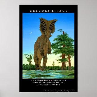 Chasmosaurus Gregory Paul del poster del dinosauri
