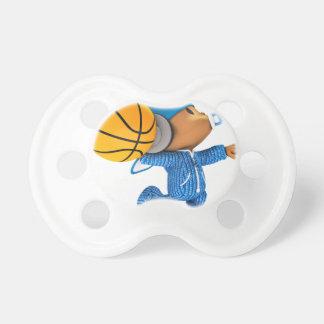 chasquido 02 del baloncesto del peekaboo chupete de bebe