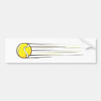Chasquido de la pelota de tenis etiqueta de parachoque