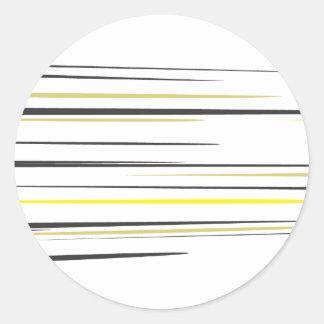 Chasquido de la pelota de tenis etiquetas redondas