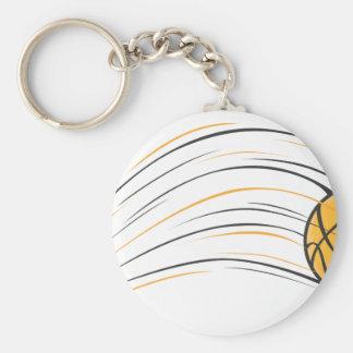 Chasquido del baloncesto llavero redondo tipo pin