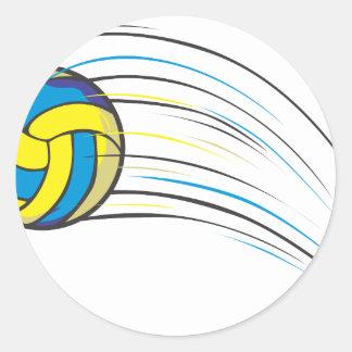 Chasquido del voleibol etiqueta redonda