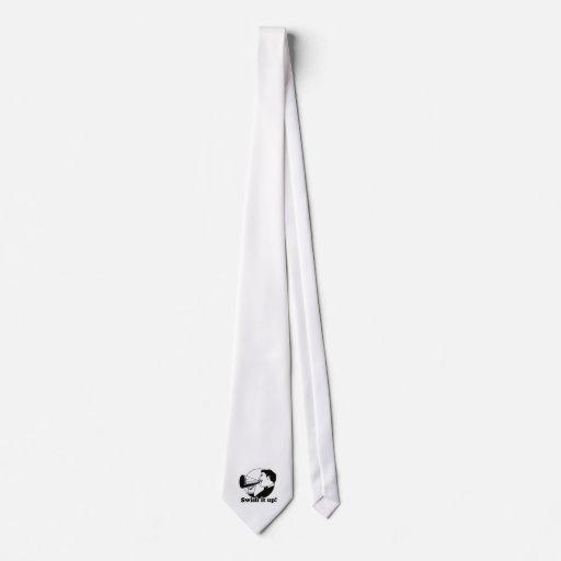 Chasquido él para arriba corbatas personalizadas