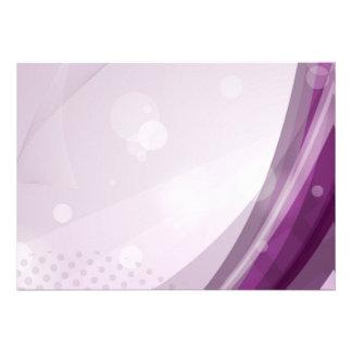 Chasquido púrpura comunicado personalizado