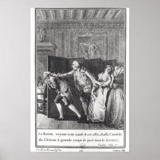 Chassa Candide du Chateau de Le Barón Póster