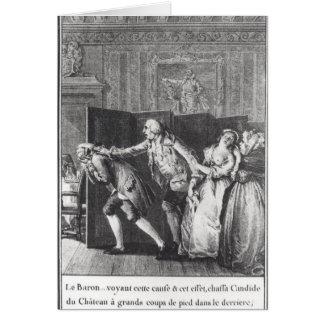 Chassa Candide du Chateau de Le Barón Tarjeta De Felicitación
