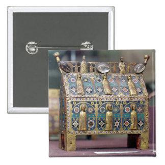 Chasse del relicario, Limoges, c.1200-50 Pin Cuadrada 5 Cm