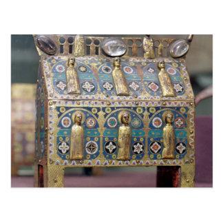 Chasse del relicario, Limoges, c.1200-50 Tarjeta Postal