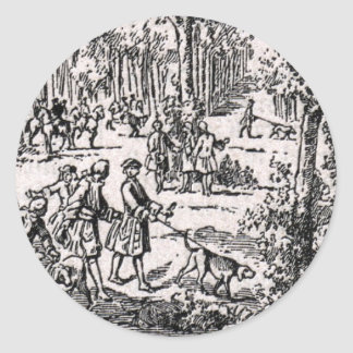 Chasse D'Oudry Round Sticker